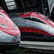 Freccia Rossa Trains. Poster