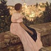 Frederic Bazille   The Pink Dress Poster