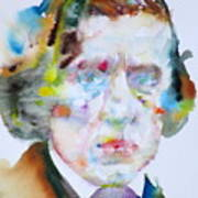 Frederic Chopin - Watercolor Portrait Poster