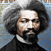 Frederick Douglass And Emancipation Proclamation Painting In Color  Poster