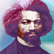 Frederick Douglass Painting In Color Pop Art Poster
