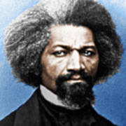 Frederick Douglass Painting In Color  Poster