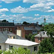 Fredericksburg Roof Tops Poster