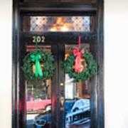 Fredricksburg Door Decorated For Christmas Poster