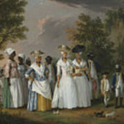 Free Women Of Color With Their Children And Servants In A Landscape Poster