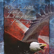 Freedom Greeting Card Poster by William Martin
