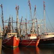 Freeport Shrimper Fleet Poster