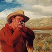 Freeze    Rifleman With Muzzle Loader Western Painting Poster