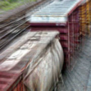 Freight Train Abstract Poster