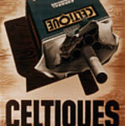 French Cigarette Ad, 1934 Poster