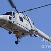 French Navy Westland Sea Lynx Poster