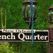 French Quarter Sign Poster