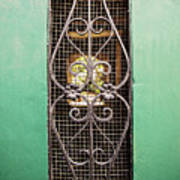 French Quarter Window To The Courtyard Poster
