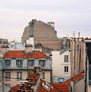 French Rooftops  Poster