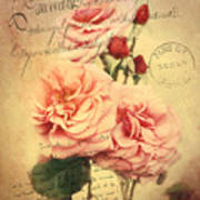 French Rose Bouquet Poster