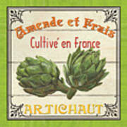 French Vegetable Sign 2 Poster by Debbie DeWitt
