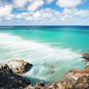 Frenchmans Beach On Stradbroke Island, Queensland. Poster