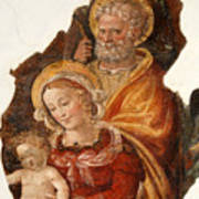 Fresco Holy Family Poster