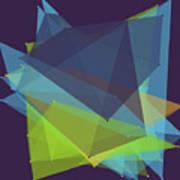 Fresh Polygon Pattern Poster