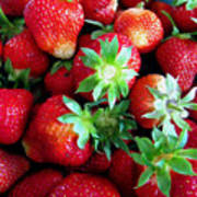 Fresh Ripe Perfect Strawberry Poster