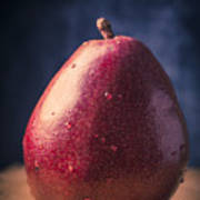 Fresh Ripe Red Pear Poster