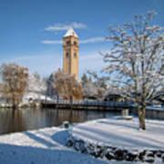 Fresh Snow In Riverfront Park - Spokane Washington Poster by Daniel Hagerman