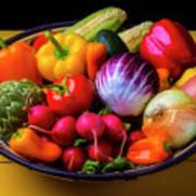 Fresh Vegetables In Lovely Basket Poster