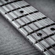 Fret Board In Black And White Poster