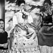 Frida Kahlo Shown With Her Painting Me Poster