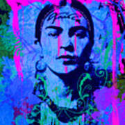 Frida Kahlo Street Pop Art No.1 Poster