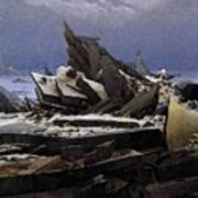 Friedrich Caspar David The Sea Of Ice Poster