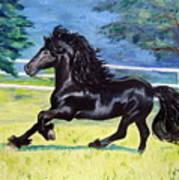 Friesian, Run Like The Wind Poster