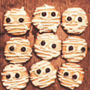 Frightened Mummy Baked Biscuits Poster