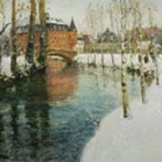 Frits Thaulow    A Chateau In Normandy Poster