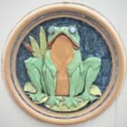 Frog Ceramic Plaque Poster