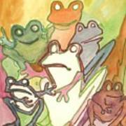 Frog Group Portrait Poster