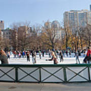 Frog Pond Skating Rink Boston Common Poster