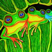 Froggie Trio Poster