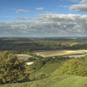 From The Downs To The Weald Poster