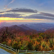 From The Top Of Brasstown Bald Poster
