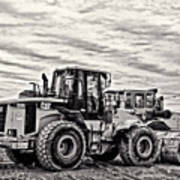 Front End Loader Black And White Poster