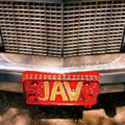 Front Of The Car - Grill And Plate Poster