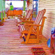 Front Porch On An Old Country House  1 Poster