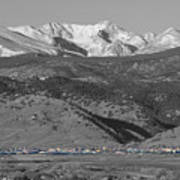 Front Range View North Boulder Colorado Poster
