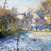 Frost Poster by Claude Monet