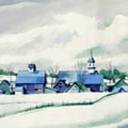 Frozen Aqua Poster