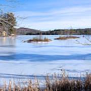 Frozen Bryant Pond Poster