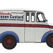 Frozen Custard On Wheels Poster