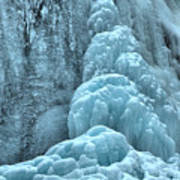 Frozen Falls Along The Icefields Parkway Poster