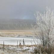 Frozen Fog Ranch Scene Poster